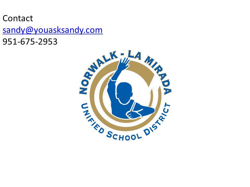 Contact sandy@youasksandy.com 951-675-2953 sandy@youasksandy.com