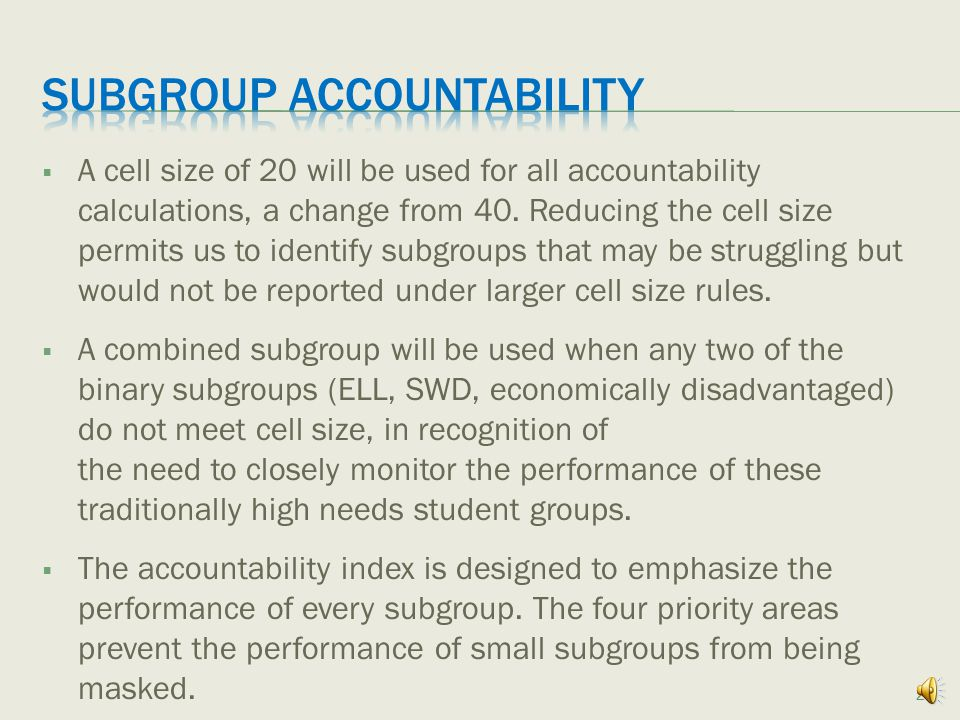 Subgroups, Multiple Measures, and Scoring 19