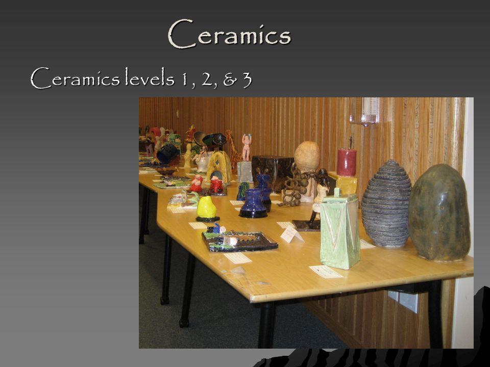 Ceramics Ceramics levels 1, 2, & 3