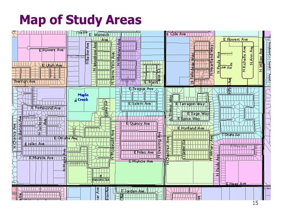 Map of Study Areas 15