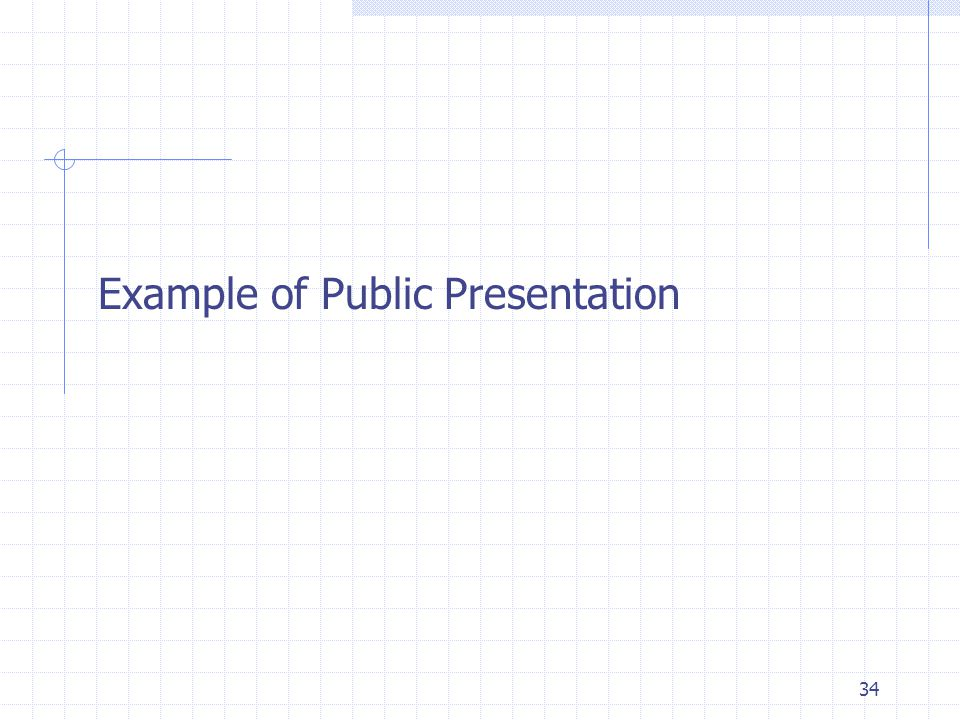 Example of Public Presentation 34