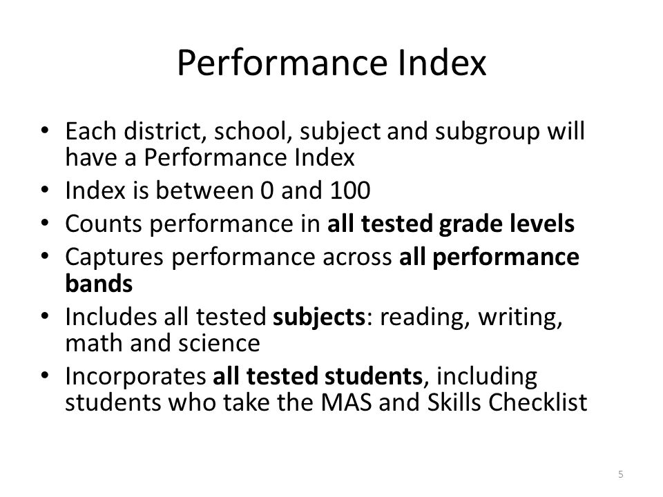 How Can a School Increase its SPI (School Performance Index).