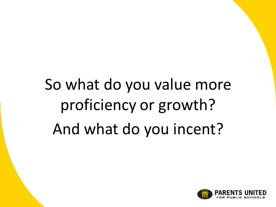 So what do you value more proficiency or growth And what do you incent
