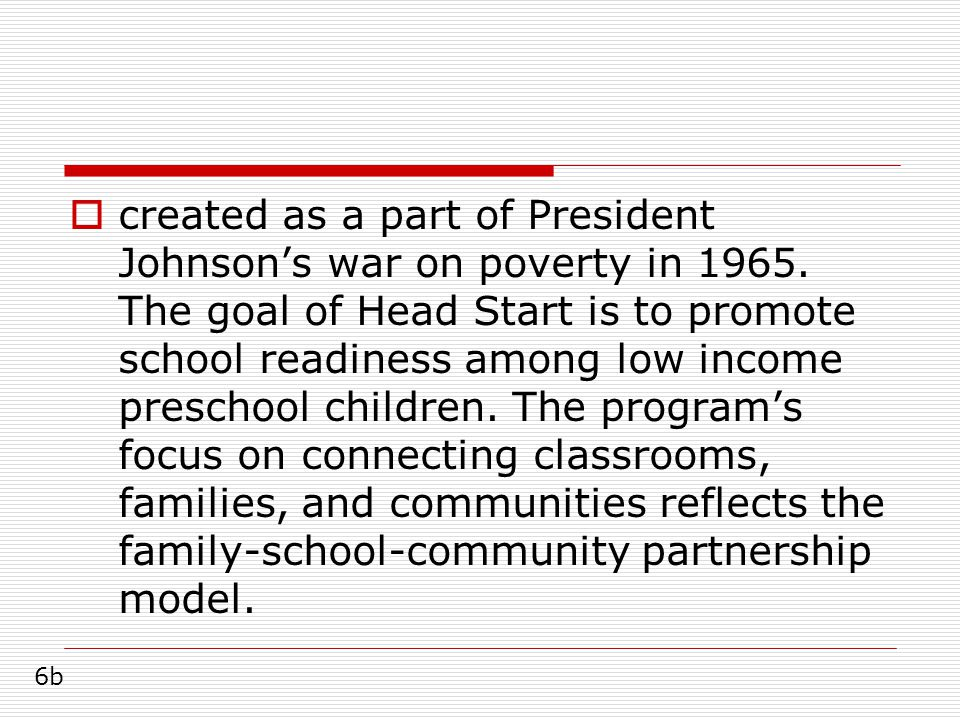  created as a part of President Johnson's war on poverty in 1965.