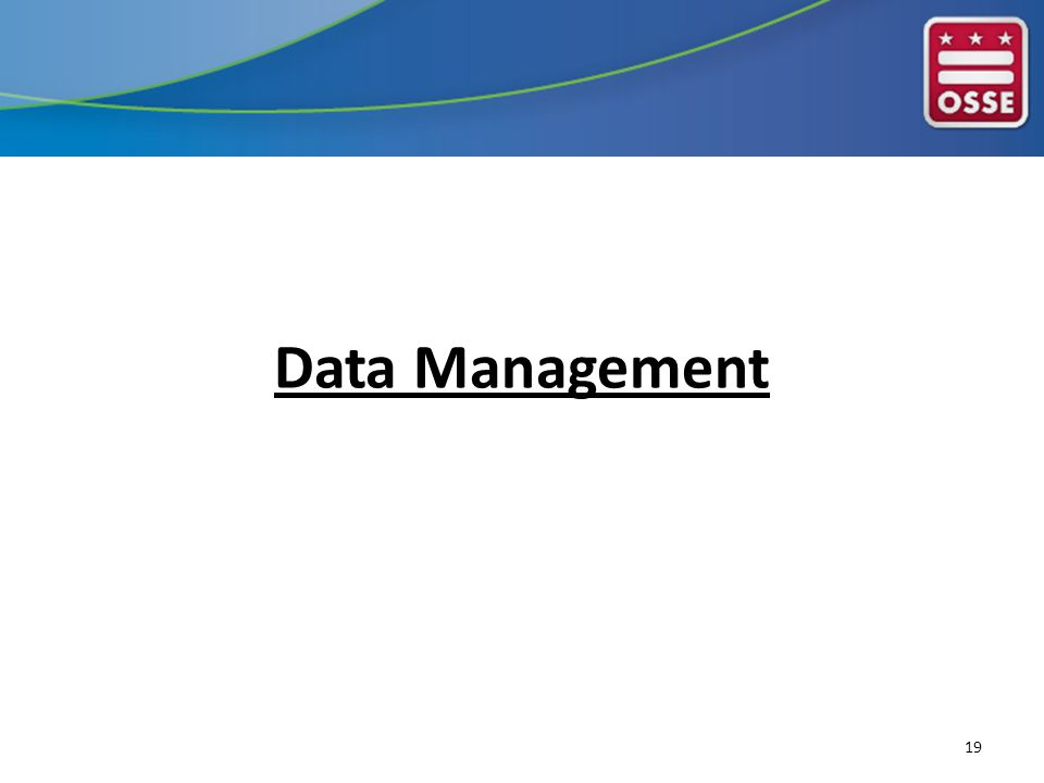 Data Management 19