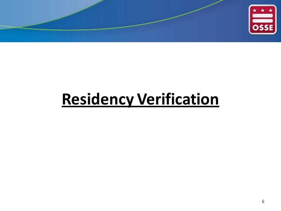 Residency Verification 6