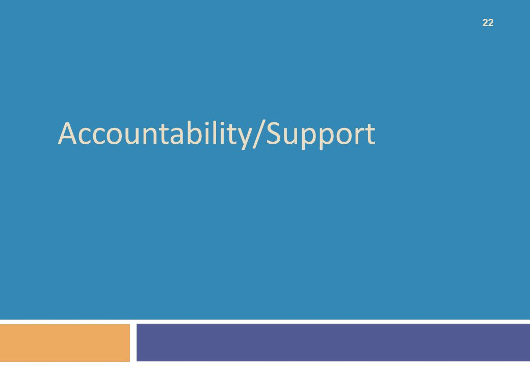 Accountability/Support 22