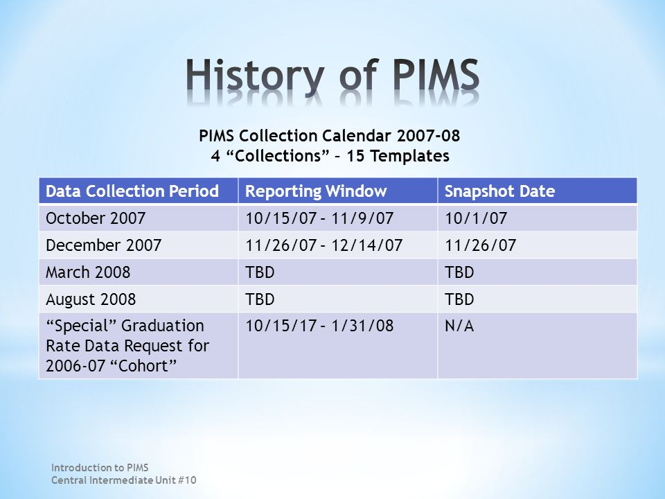 Course Data Courses to be Reported in PIMS (Vol.1 – pg.