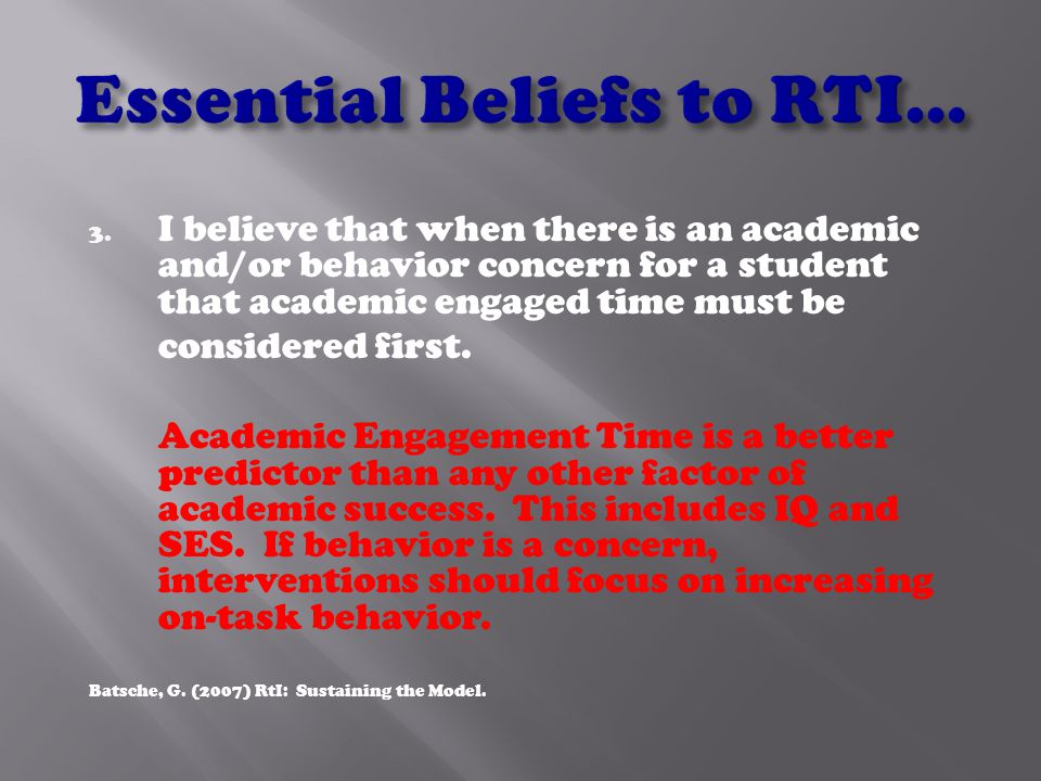 2. I believe that it is OK to provide differential services across students (i.e.