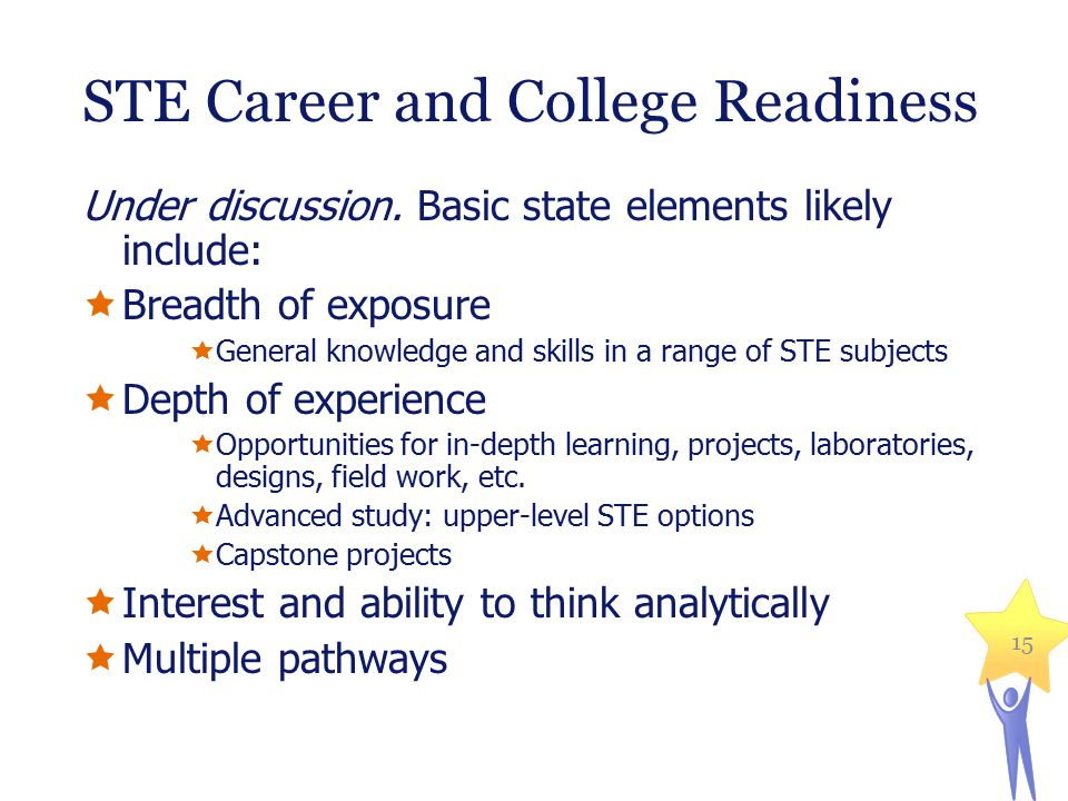 STE Career and College Readiness Under discussion.
