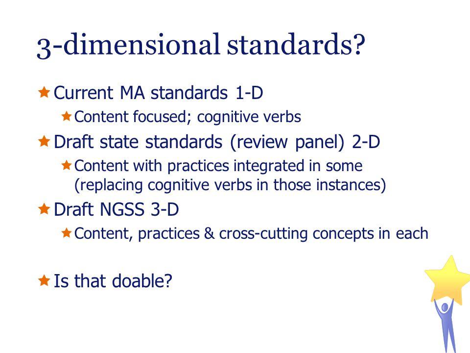 3-dimensional standards.