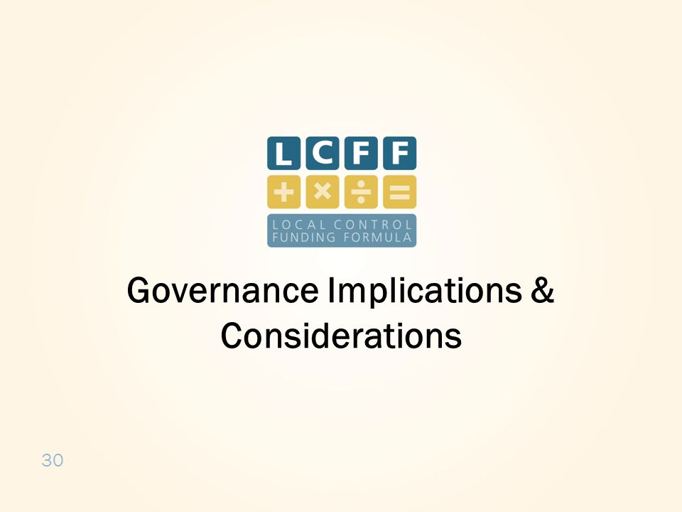 30 Governance Implications & Considerations
