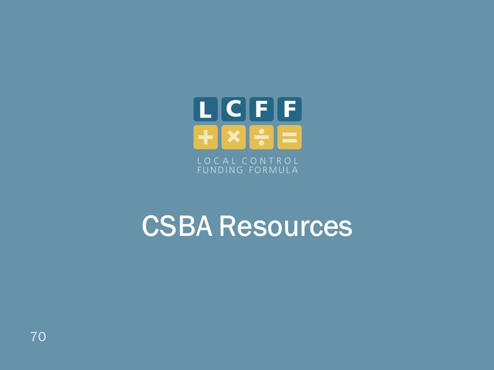 70 CSBA Resources