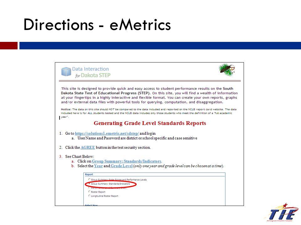 Directions - eMetrics