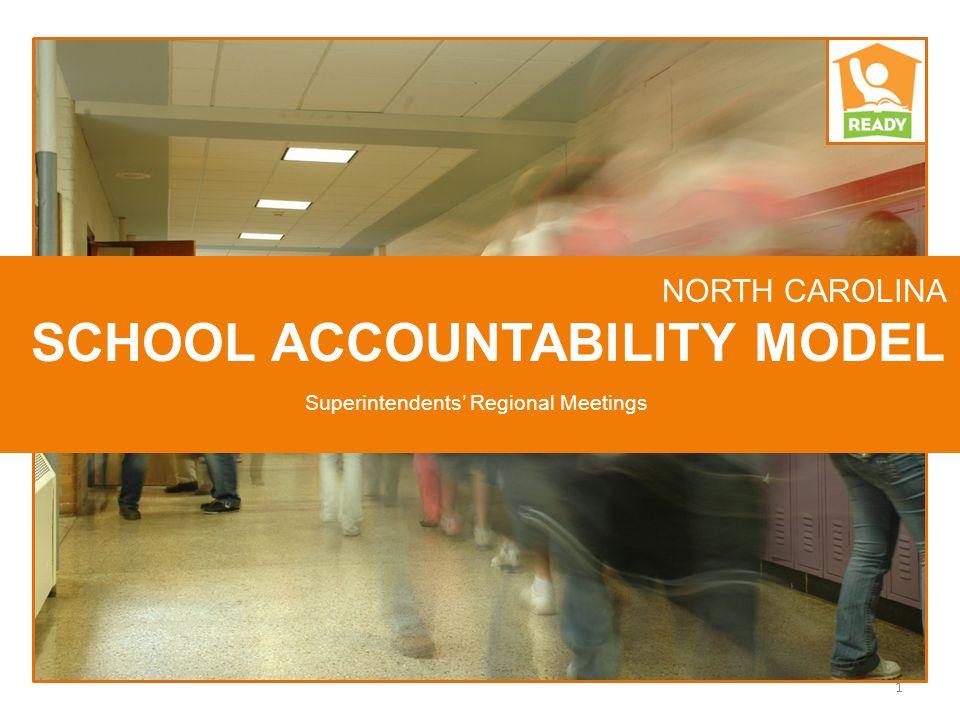 NORTH CAROLINA SCHOOL ACCOUNTABILITY MODEL 1 Superintendents' Regional Meetings