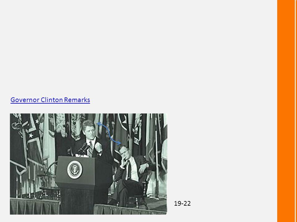 Governor Clinton Remarks 19-22