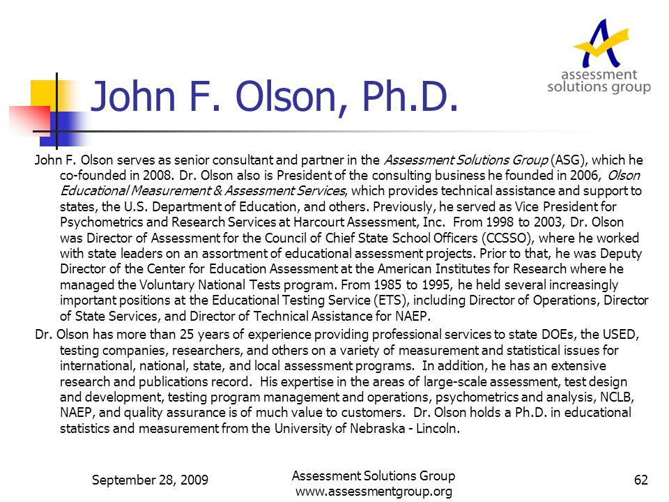 John F. Olson, Ph.D. John F.