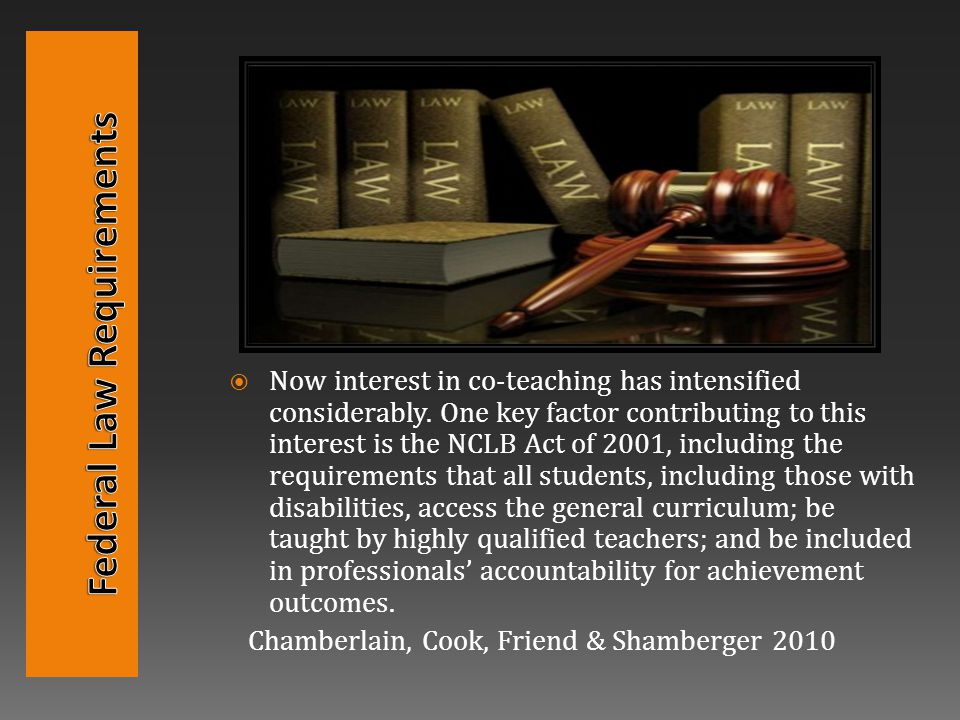  Now interest in co-teaching has intensified considerably.