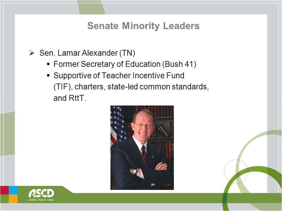 Senate Minority Leaders  Sen.