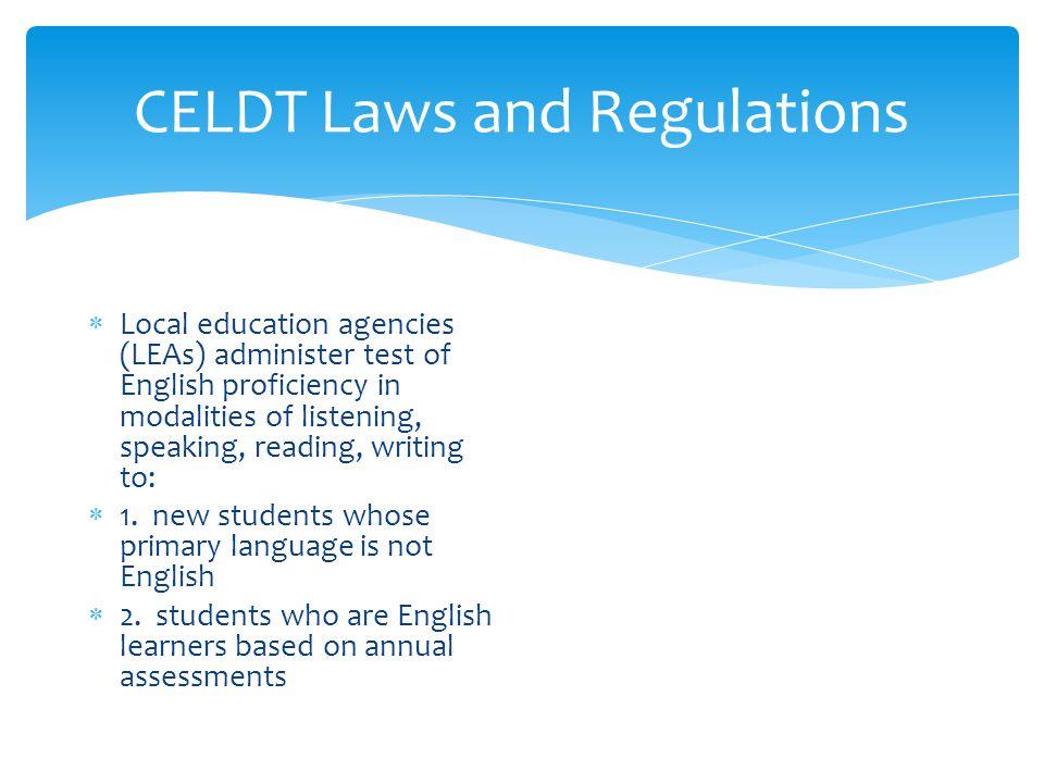 CELDT Performance Level Report 2012-2013