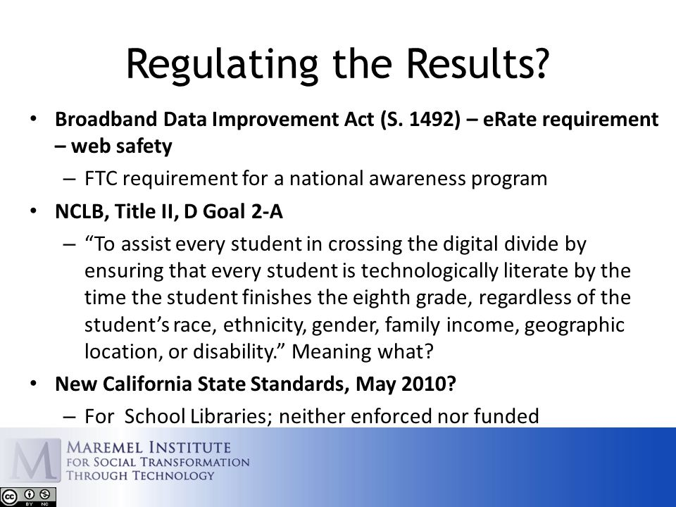 Regulating the Results. Broadband Data Improvement Act (S.