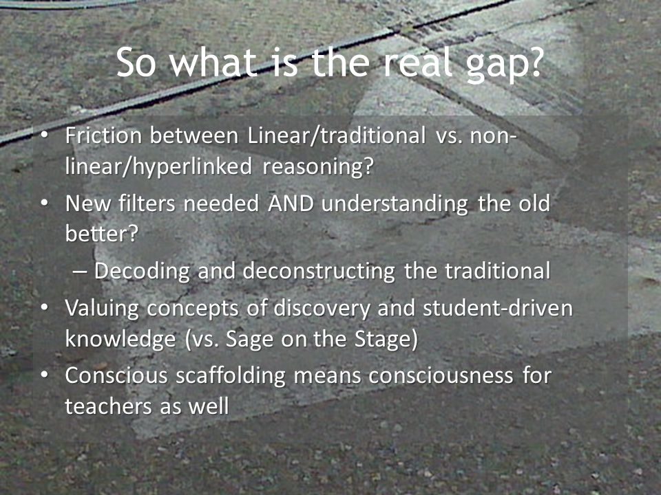 So what is the real gap. Friction between Linear/traditional vs.