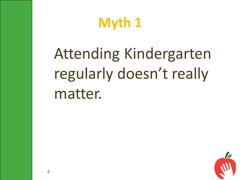 Attending Kindergarten regularly doesn't really matter. Myth 1 4