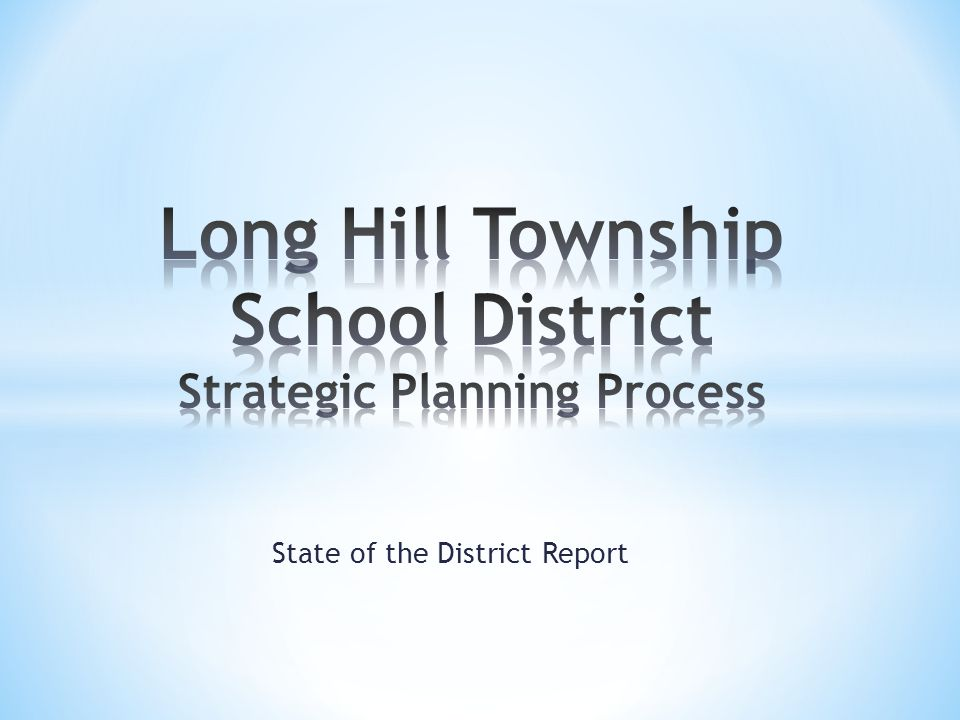 State of the District Report