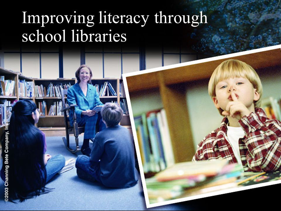 Improving literacy through school libraries