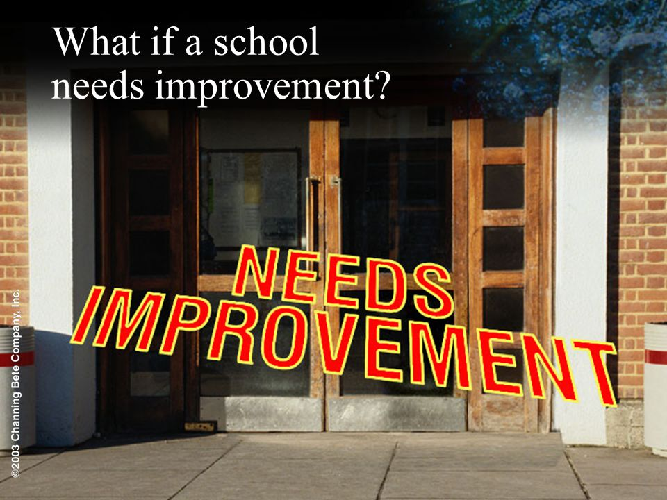 What if a school needs improvement