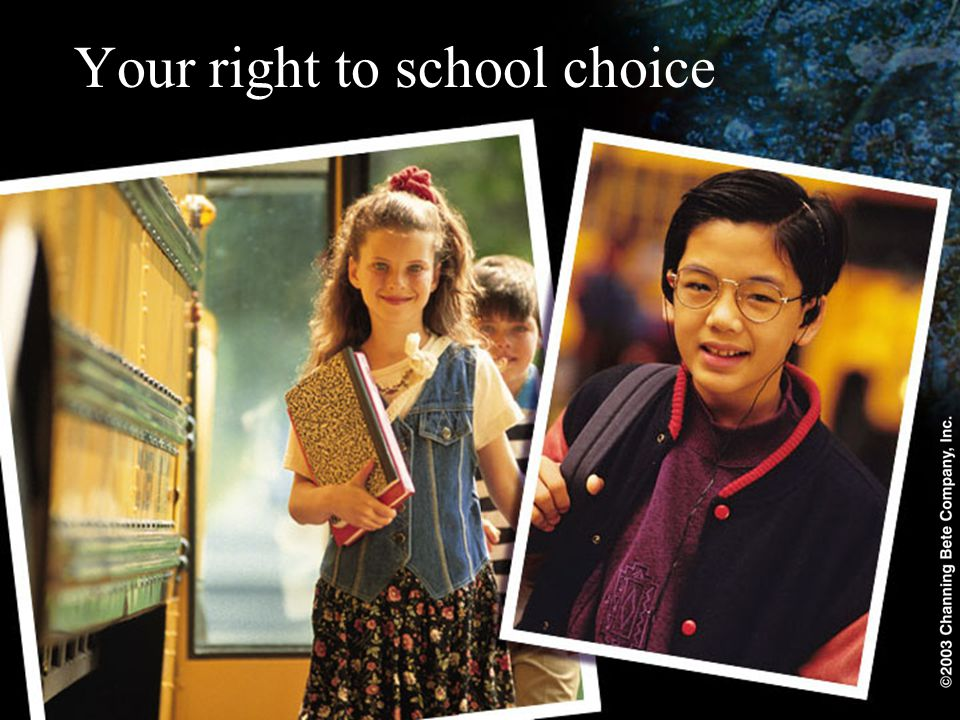 Your right to school choice