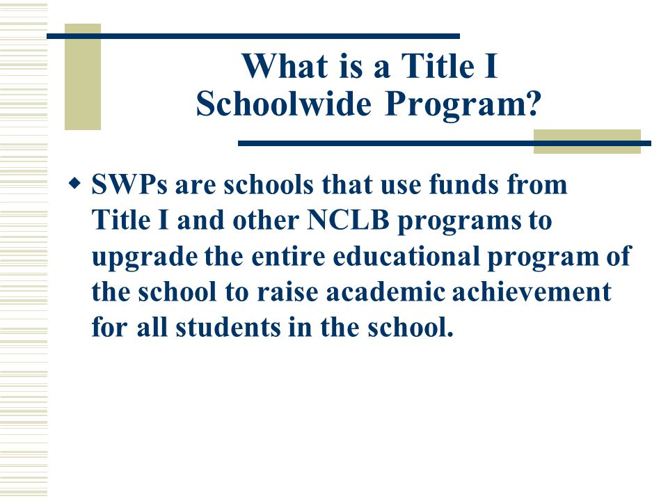 It Begins Here….. Are we willing to invest a year in planning our schoolwide program.