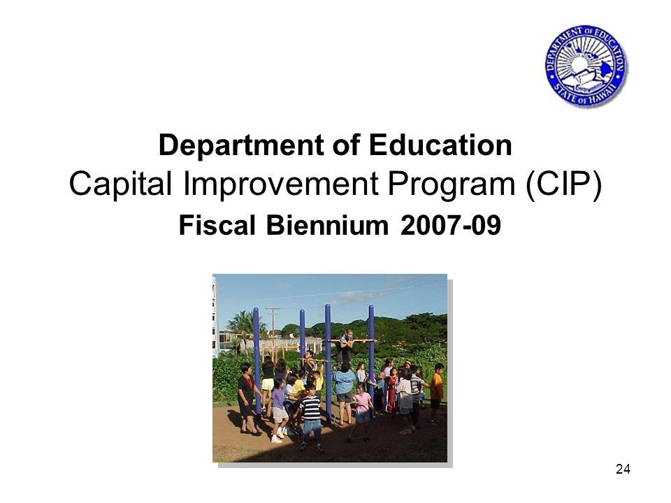 24 Department of Education Capital Improvement Program (CIP) Fiscal Biennium 2007-09