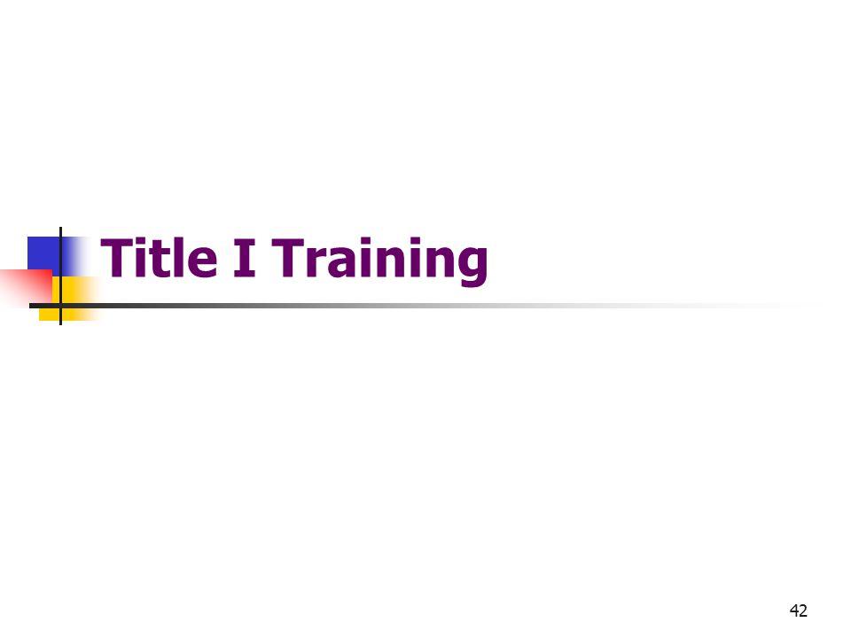 42 Title I Training
