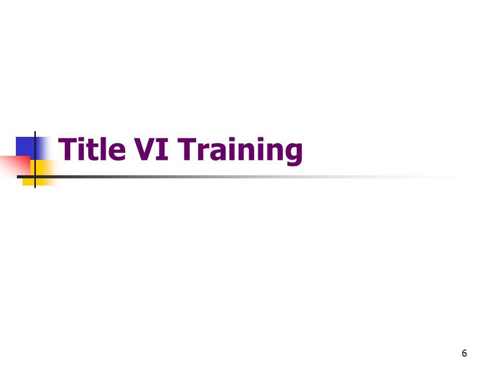 6 Title VI Training
