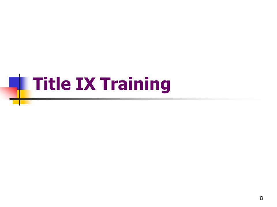 8 Title IX Training
