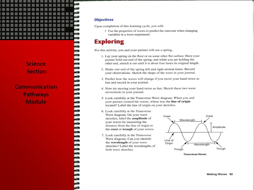 Science Section Communication Pathways Module