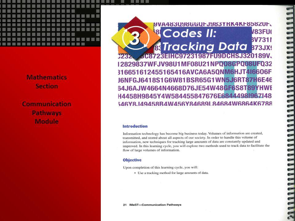 Mathematics Section Communication Pathways Module