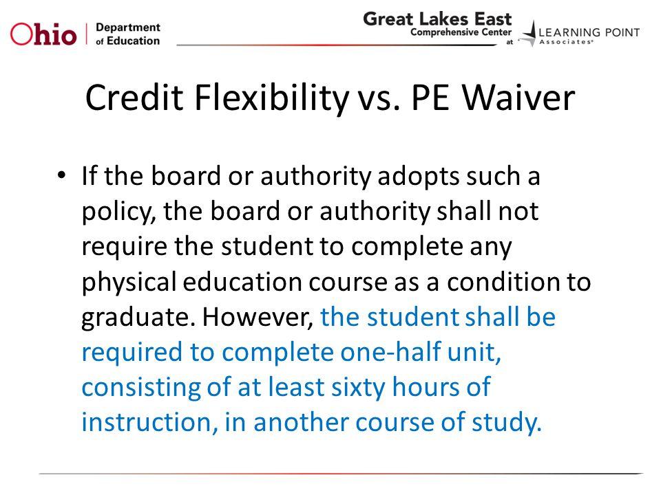 Credit Flexibility vs.