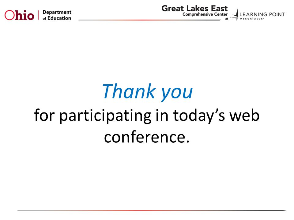 Thank you for participating in today's web conference.