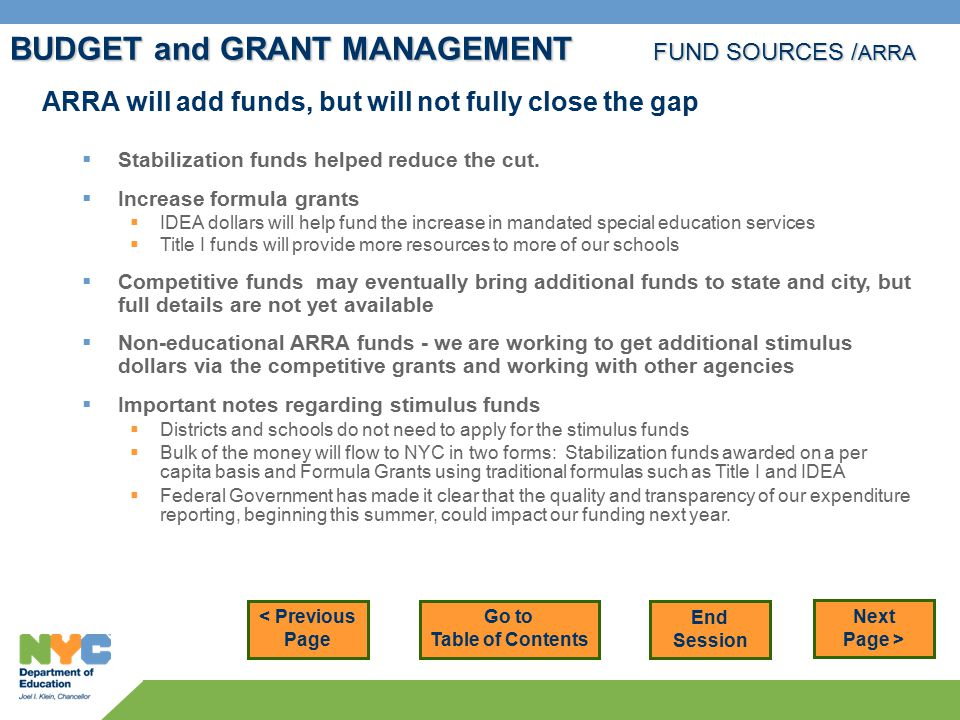 ARRA will add funds, but will not fully close the gap  Stabilization funds helped reduce the cut.