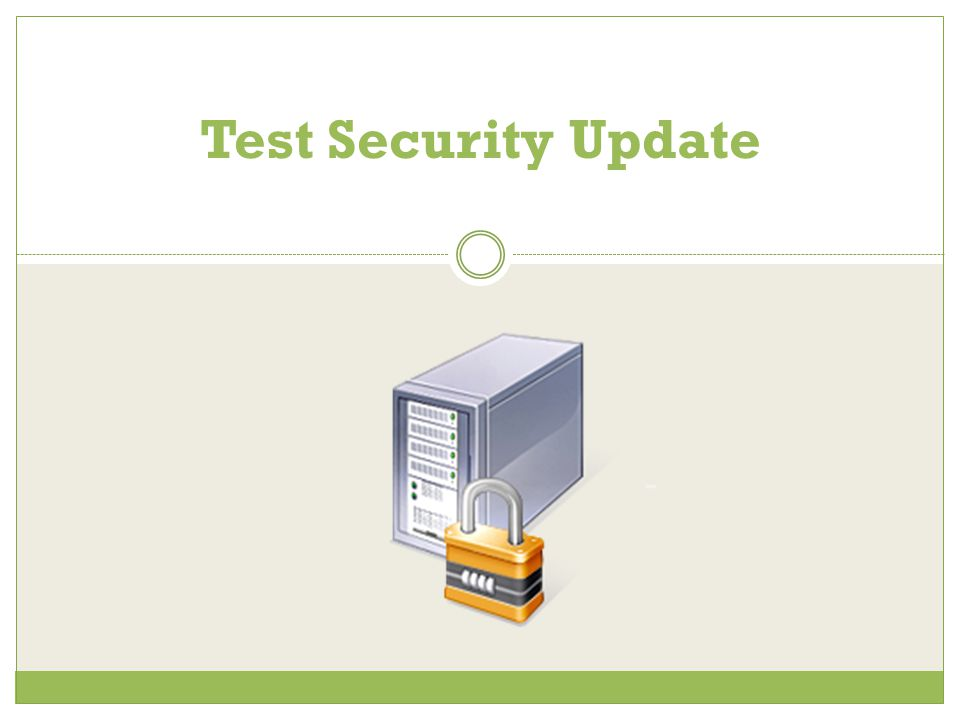 Test Security Update