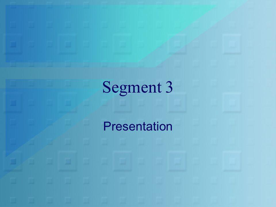Segment 3 Presentation