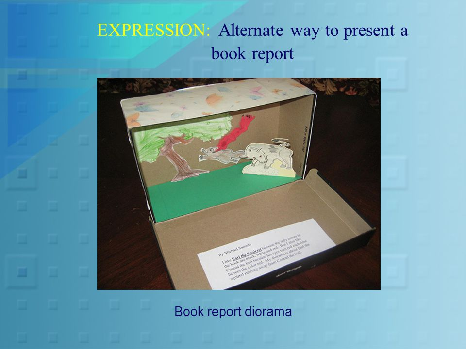 EXPRESSION: Alternate way to present a book report Book report diorama