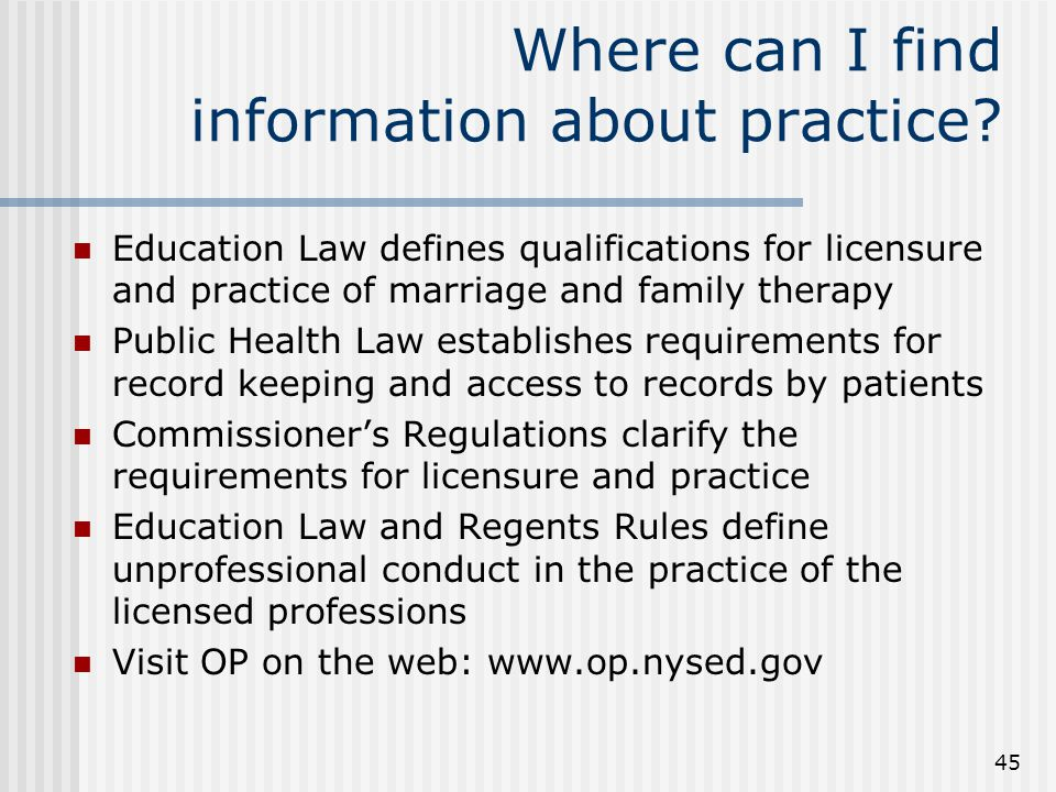 45 Where can I find information about practice.