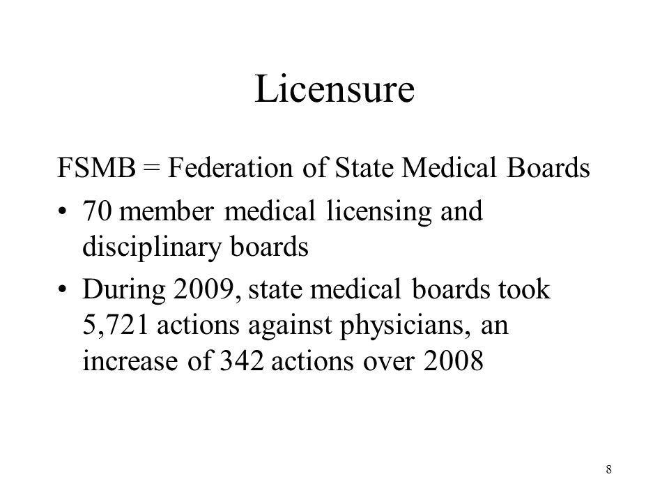 19 Disciplinary Action by Medical Boards and Prior Behavior in Medical School Results, continued Disciplinary action also associated with low MCAT scores and poor grades in the first two years of medical school The association with these variables was less strong than that with unprofessional behavior