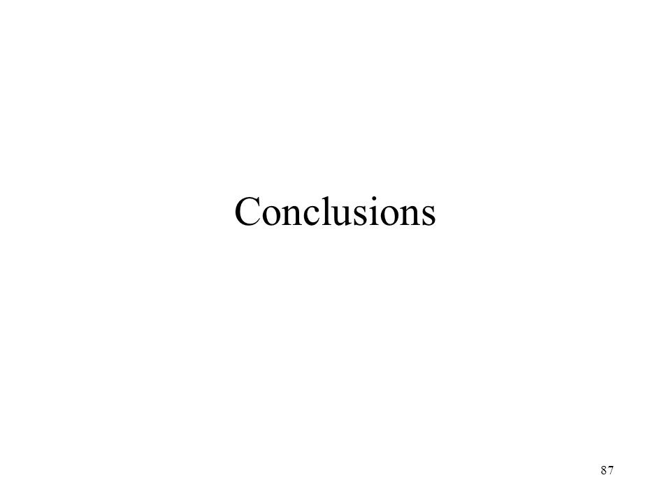 87 Conclusions