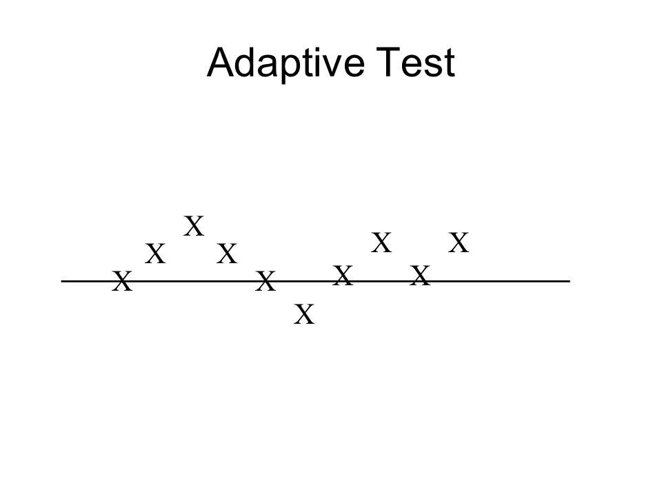 _______________________________ X X X X X X X X X X Adaptive Test