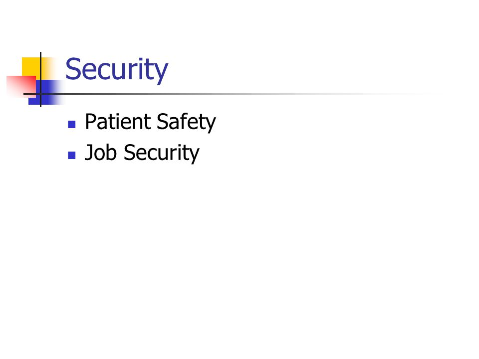 Security Patient Safety Job Security