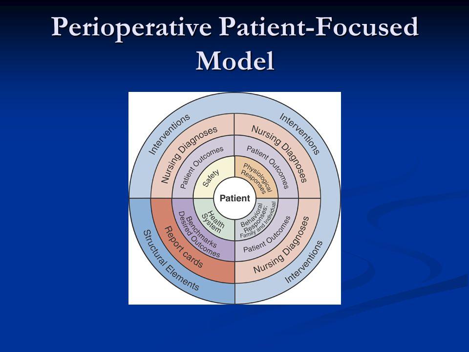 PERIOPERATIVE NURSING Fundamental purposes of the O.R.